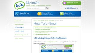 How To's - Email - My ImOn