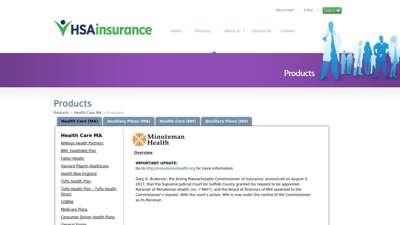 HSA Insurance - Massachusetts Minuteman Health