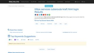 Https services cuberoute kraft html login Results For Websites ...
