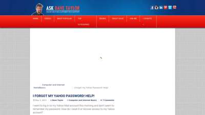 I Forgot my Yahoo Password! Help! - Ask Dave Taylor