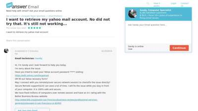 I want to retrieve my yahoo mail account - JustAnswer