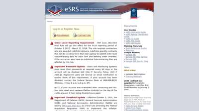 IAE: ESRS (Electronic Subcontracting Reporting System)