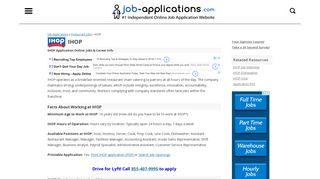 IHOP Application, Jobs & Careers Online - Job-Applications.com