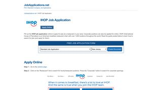IHOP Job Application - Apply Online