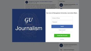 IMPORTANT NOTE: Georgetown University... - Facebook
