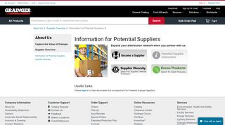 Information for Potential Suppliers - Grainger Industrial Supply