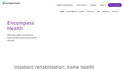 Inpatient Rehabilitation, Home Health & Hospice ...