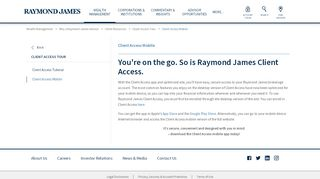 Investor Access Mobile - Client Resources | Raymond James