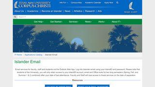 Islander Email - Texas A&M University Corpus Christi