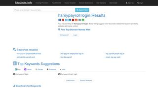 Itsmypayroll login Results For Websites Listing - SiteLinks.Info