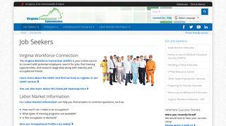Job Seekers | Virginia Employment Commission