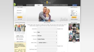 Join LuvFree - Free Dating Site