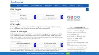 KIK Online Login - www.KIK.com Online - KIK App Sign In