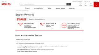 Learn About Associate Rewards - Staples Rewards