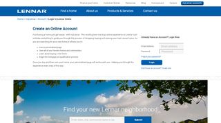Lennar Corporation - myLennar - Login - Lennar Homes
