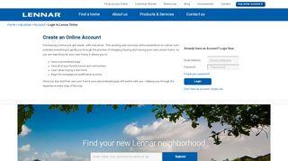 Lennar Corporation - myLennar - Login - Lennar.com