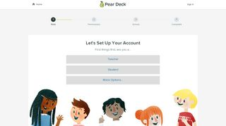Let's Set Up Your Account - Pear Deck - Welcome