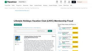 Lifestyle Holidays Vacation Club (LHVC) Membership Fraud - Puerto ...