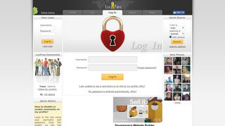 Log In - Free Dating Site