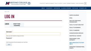 Log in   SUNY Maritime College