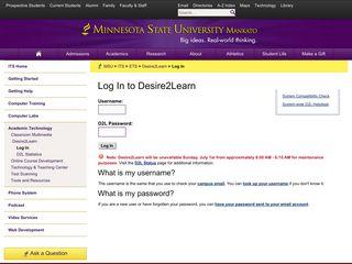 Log In to Desire2Learn – Minnesota State University, Mankato - D2L