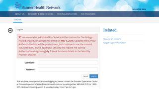 Log On - Banner Health Network