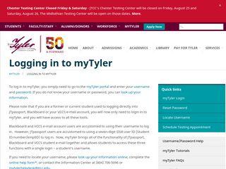 Logging in to myTyler