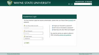 Login - Academica - Wayne State University