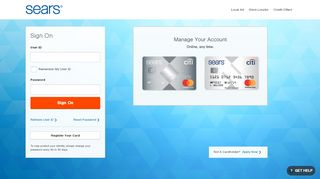 Login and Manage Your Sears Credit Card Account Online ... - Citi.com