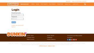 Login | Dunkin' - Dunkin' Donuts