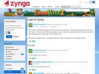Login for Zynga — FarmVille 2