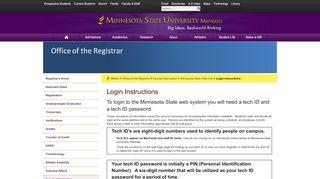 Login Instructions – Minnesota State Web Info – Faculty Information ...