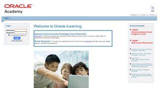 Login - Oracle iLearning