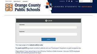 Login - Orange County Public Schools