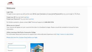 Login - Red Rocks Community College - D2L