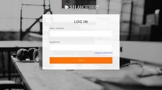 Login | Shaw Academy