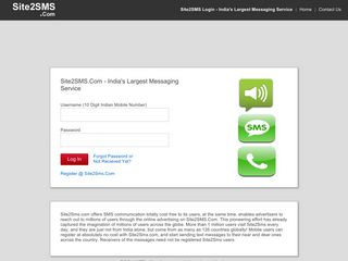 Login Site2SMS - India's Largest Messaging Service