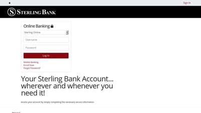 Login | Sterling Bank | Missouri