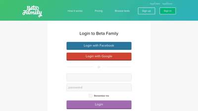 Login to Beta Family - Find beta testers to your iOS or ...