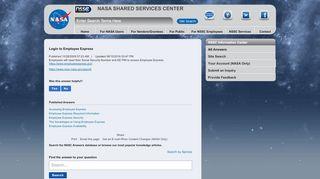 Login to Employee Express - NSSC Information Center - NASA