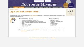 Login to Fuller Student Portal - Welcome to Fuller Seminary ...
