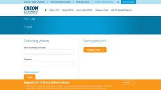 Login to Patient Support Programs | CREON® (pancrelipase)