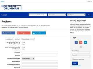 Login/Register - Northrop Grumman (Optamor)