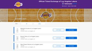 Los Angeles Lakers Tickets 2019-20  NBA Official Resale ...