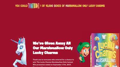 Lucky Charms Marshmallow Only Instant Win