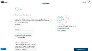 Manage Account - Spectrum.net