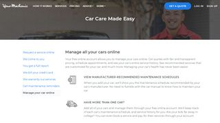Manage Your Car Online - Get a Free Account | YourMechanic