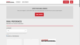 Manage your Las Vegas Review-Journal account