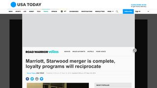 Marriott, Starwood merger is complete, loyalty programs will ...