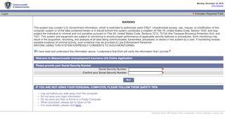 Massachusetts Unemployment Insurance (UI) - UI Online
